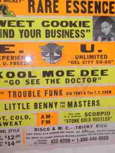 Globe, Go Go, Rare Essence, E.U., Kool Moe Dee, Trouble Funk