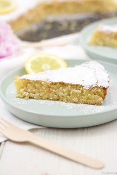 Recipe: Spanish almond cake with lemon - tulip day-Rezept: Spanischer Mandelkuchen mit Zitrone – tulpentag got to know and me about the Spanish way of life … - Pecan Recipes, Gourmet Recipes, Baking Recipes, Cake Recipes, Pudding Desserts, Almond Cakes, Sweet And Salty, Sweet Bread, Food Cakes