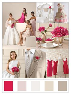 A flirty and fun color scheme! The pinks, whites, and tans create a charming atmosphere.