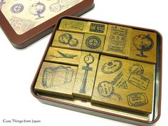 Travel Stamps Margaret Rubber Stamp Set of by CuteThingsFromJapan
