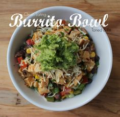 Clean Eating Burrito Bowl  #eatcleanpinparty