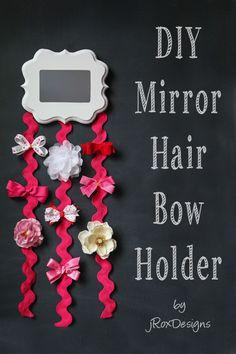 DIY Mirror Hair Bow Holder by jRoxDesigns