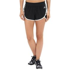 adidas Ultimate Woven Shorts (Black/White/Matte Silver) Women's Shorts ($18) ❤ liked on Polyvore featuring activewear, activewear shorts, gold, adidas, adidas activewear and adidas sportswear