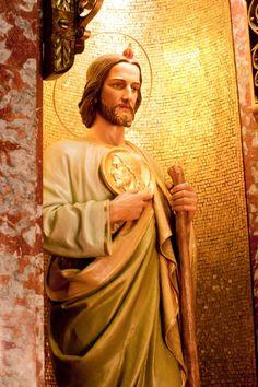Jude, pray for us! Catholic Saints, Patron Saints, Roman Catholic, Religious Tattoos, Religious Art, St Jude Novena, St Judas, Childlike Faith, Jesus Pictures