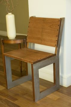 reclaimed Wood Square Chair by GreenFurnitureDesign on Etsy, $1001.00