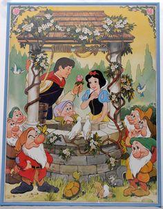 Walt Disney's Snow White Poster by shopthevioletfox https://www.etsy.com/listing/234198668/sale-retrovintage-walt-disneys-snow
