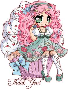 Thank You Chibi ::Commission:: by YamPuff.deviantart.com on @DeviantArt