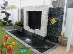 Ponds Backyard, Garden Pool, Backyard Landscaping, Balcony Garden, Tropical Garden, Water Features In The Garden, Garden Features, House Landscape, Garden Landscape Design
