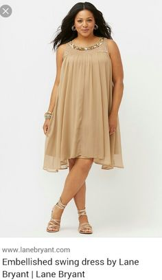 37e37b5de6e4e Embellished swing dress by Lane Bryant
