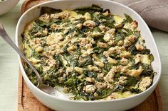 Mediterranean Baked Spinach - Joy of Kosher