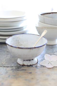 old white enamel ware