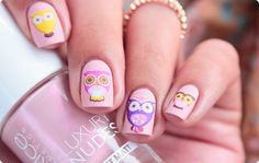 Nailpolis Museum of Nail Art | Owls waterdecals by Romana