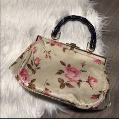 Vintage Floral Silk Purse