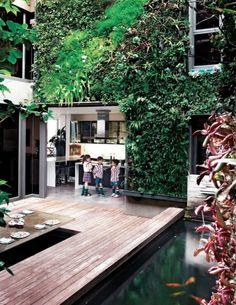 Vertical Garden / Koi Pond Courtyard