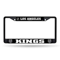 NHL Los Angeles Kings Chrome Black License Plate Frame
