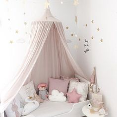 Baby Room Decoration Home Bed Curtain Round Crib Netting Baby Tent Cotton Hung Dome Baby Mosquito Net Photography Props - PINkart. Playroom Decor, Baby Room Decor, Kids Decor, Bedroom Decor, Nursery Decor, Bedroom Ideas, Girl Nursery, Decor Ideas, Baby Girl Nurserys