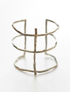 DISTRESSED CAST LEATHER CUFF from the Killer Collection