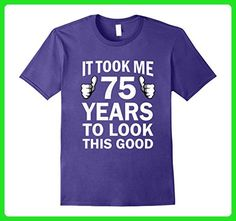 Mens Funny 75th Birthday T-Shirt Took 75 Years To Look This Good 3XL Purple - Birthday shirts (*Amazon Partner-Link)