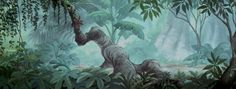 The Jungle Book background art Book Background, Disney Background, Animation Background, Walt Disney Animation, Animation Film, Animation Studios, Disney Pixar, Environment Concept Art, Environment Design