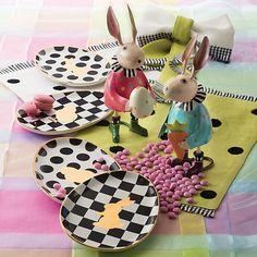 Easter Egg Plates - Set of 4
