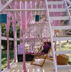 HOME & GARDEN: DIY : Une cabane mezzanine pour le jardin