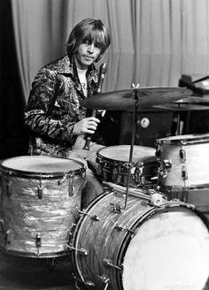 Brian Jones behind the drums!