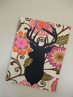 HGTV Home Decor Fabric w/ Deer Silhouette @ Just Another Hang Up
