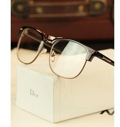 Free shipping Metal half-rim frame glasses retro men reading Glasses UV protection glass without magnification wholesale US $7.68