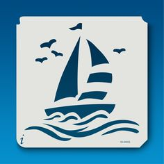 53-00053 Sailboat Stencil Templates, Stencils, Stencil Patterns, Dot Painting, Fabric Painting, Nautical Theme, String Art, Paper Cutting, Sailboats