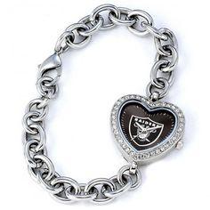 Oakland Raiders NFL Football Wrist Watch Wristwatch Bracelet Stainless Steel