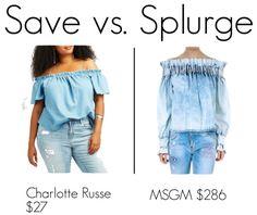 Save vs. Splurge: MSGM denim top