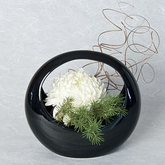 Japanese Flower Arrangement | Ceramic Ikebana Basket Container for Japanese Flower Arranging | Ziji