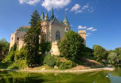 Bijnice Castle in Slovakia.  Doesn't it look like it came straight from a fairytale?