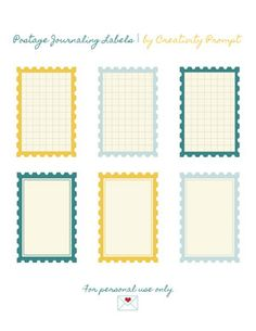 Freebie – Postage Journaling Labels & more Creativity Prompt freebies here: http://www.creativityprompt.com/tag/freebie/