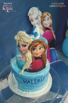 Tarta Frozen para Valèria Frozen cake for Valèria www.tartasdelunallena.blogspot.com