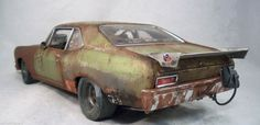 1970 Chevy Nova Weathered Barn Find Drag Car Rat Rod 1/18 GMP Diecast OOAK