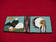 NATIVE BEADED WALLET WITH CUT BEADS