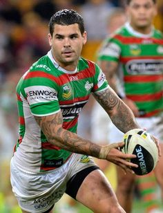 Adam Reynolds of the Rabbitohs in action during the round eight #NRL match between the Brisbane Broncos and the South Sydney Rabbitohs at Suncorp Stadium on May 3, 2013 in Brisbane, Australia.