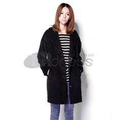Wool Coats-Upscale black women wool coat