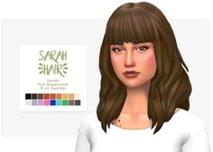 nolan-sims Nolan Sims here. Long time no upload! So, I finally got my haircut again, and needed an updated hairstyle for my Simself. I figured i'd share the final result. I hope you'll all find a use for it! Sarah Hair • 18 EA/Maxis swatches •...