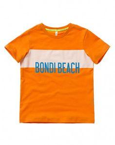 T-shirt com estampa em relevo Laranja - T-Shirts | Benetton