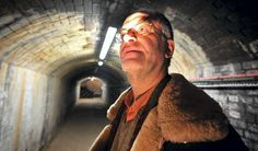 Ed Glinert in the tunnel complex which runs underneath Manchester's streets