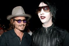 """Manson and Depp do a cover of """"You're So Vain"""" on Manson's new album """"Born Villain"""" I think my mind just exploded. <3"""