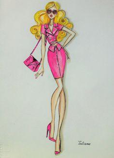 ORIGINAL Fashion Illustration-Moshino Spring 2015