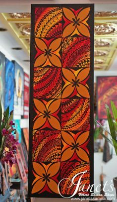 Janet's - Long Motif Panel DKP104, 329.00 USD (http://www.janetssamoa.com/long-motif-panel-dkp104/) Samoan Motifs Caught in the Evening Glow