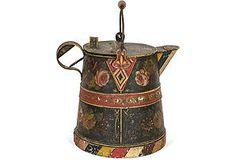 Antique Tole Coffeepot