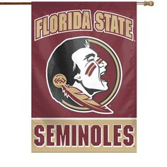 """Florida State Seminoles WinCraft 28"""" x 40"""" Full Name Single-Sided Vertical Banner - $24.99"""