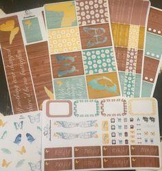 Butterflies and Daisies Full Weekly Planner Kit/Erin Condren Vertical Full…