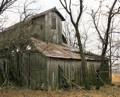 This barn is massive and looks like something out of a horror pic.