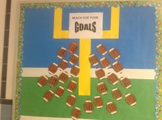 pictures of sports themed classrooms | Reach for Your Goals Classroom Bulletin Board | Holidays Central